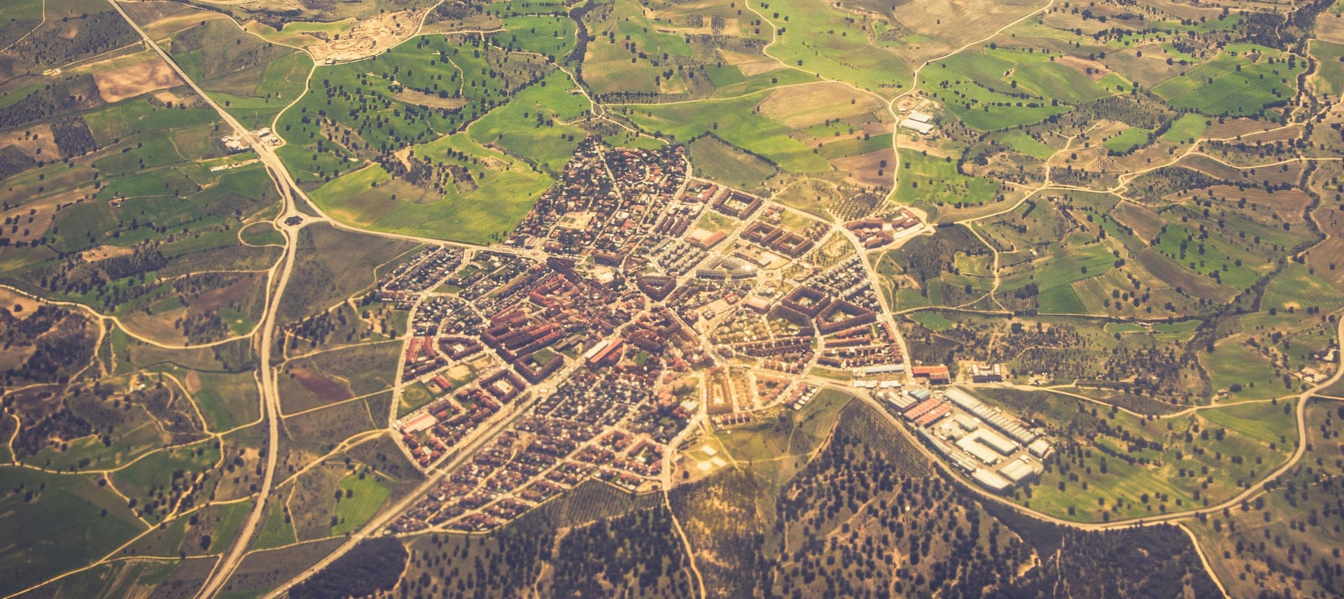 Aerial View Of A City Used As A Background Image